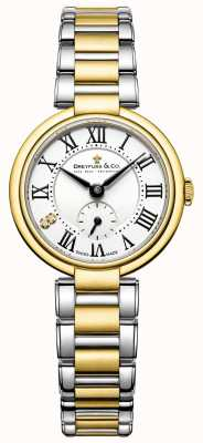 Dreyfuss dames 1974 two tone vergulde horloge DLB00158/01