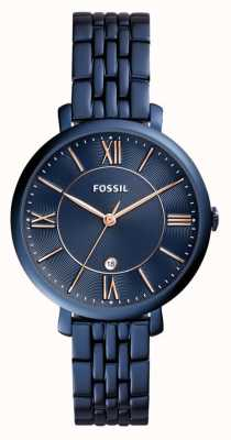 Fossil Ladies jacqueline blauwe roestvrij stalen horloge ES4094