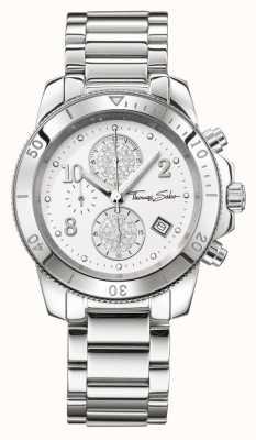 Thomas Sabo Ladies glam chrono chique zilver WA0190-201-202-40