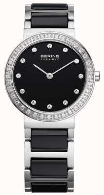 Bering zwarte keramische / stainlss staal 10729-702