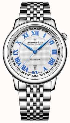 Dreyfuss Men's roestvrij stalen horloge 1925 DGB00148/01