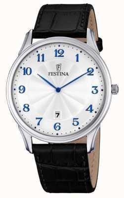 Festina Mens zwarte band witte wijzerplaat F6851/2