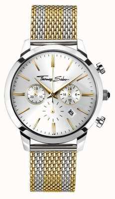 Thomas Sabo Mens rebel geest chronograaf geel goud WA0286-282-201-42