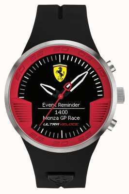 Scuderia Ferrari Mens zwart rubberen band zwart rood 0830373