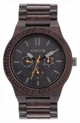 WeWood Mens kappa zwart oranje houten zwarte band 70315300