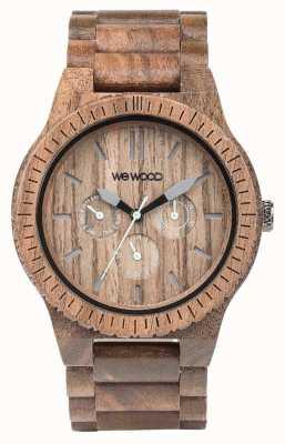 WeWood Mens kappa moer houten bruine riem 70315700