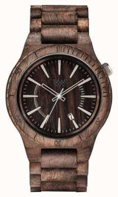 WeWood Mens assunt choco ruwe houten strap 70321511