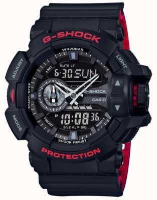 Casio Mens G-shock alarm chronograaf zwart kunststof bandje GA-400HR-1AER