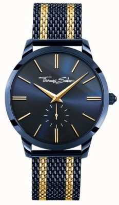 Thomas Sabo Mens rebel spirit blue steel geel gouden strepen WA0283-286-209-42