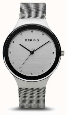 Bering Dames klassiek | gepolijst zilver | zilveren mesh armband 12934-000