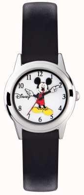 Disney Adult Mickey Mouse zilveren hoesje zwarte band MK1314