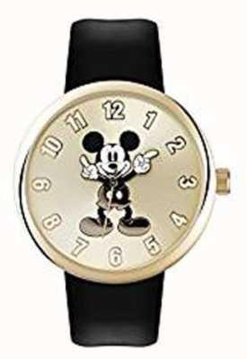 Disney Adult Mickey mouse gouden kast zwarte band MK1443