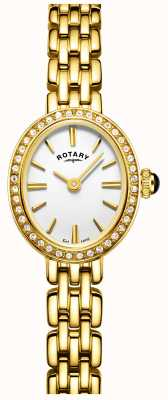Rotary Womans verguld cocktail horloge LB05051/02