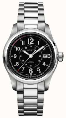 Hamilton Mannen khaki veld auto 40mm swiss made H70595133