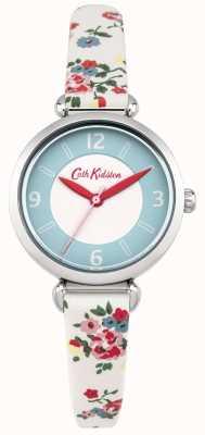 Cath Kidston Ladies kew takje bloemen crème lederen horloge CKL020CS