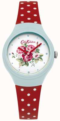Cath Kidston Dames bloem wijzerplaat rode stip horloge CKL024UR