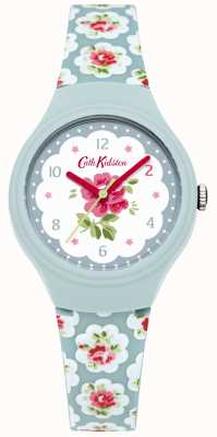 Cath Kidston Ladies provence blauwe roos gedrukt horloge CKL025U