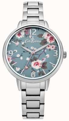 Cath Kidston slepende rose zilveren armband horloge CKL001SM