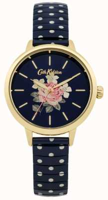 Cath Kidston Ladies marine polka dot Richmond horloge CKL009UG