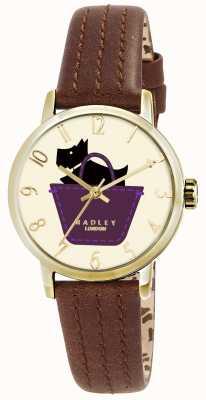 Radley Border horloge met bruin lederen band RY2290