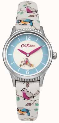 Cath Kidston Ladies vogeltjes roterende schijf Lederen Band CKL011US