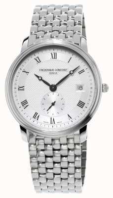 Frederique Constant Mens slanke lijn rvs armband FC-245M4S6B