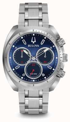 Bulova Mens curv chronograaf blauw 96A185