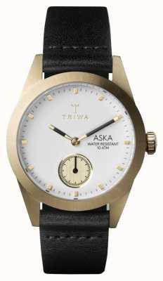 Triwa Womans ivoor Aska zwart lederen AKST101-SS010113