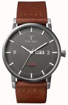Triwa Mens schemering Klinga bruin lederen KLST102-CL010212