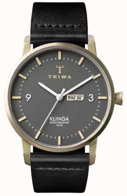 Triwa Unisex as Klinga zwart lederen KLST107-CL010117