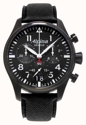 Alpina Mens Startimer piloot chronograaf quartz AL-372B4FBS6