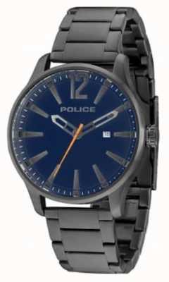 Police Mens Dallas gun knuppel blauwe wijzerplaat 14764JSU/03M