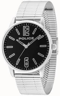 Police Mens Esquire roestvrij staal billet zwart 14765JS/02M