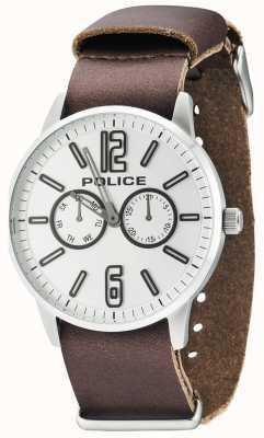 Police Mens Esquire x donker bruin leer 14766JS/04