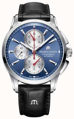 Maurice Lacroix Mens pontos automatische chronograaf blauw PT6388-SS001-430-1