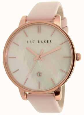 Ted Baker Womans roze leren riem parelwiel TE10026423