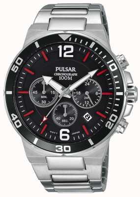 Pulsar Gents 100m roestvrijstalen chronograaf horloge PT3797X1