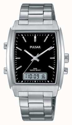 Pulsar Gents roestvrijstalen analoog / digitaal horloge PBK031X1