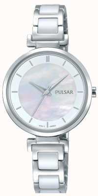 Pulsar Dames roestvrijstalen keramische parelwiel PH8269X1