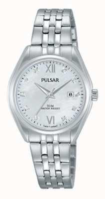 Pulsar Dames roestvrijstalen kristallen set parelwiel PH7453X1