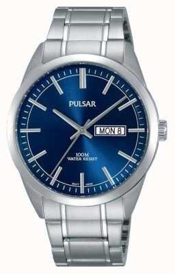 Pulsar Gents roestvrijstalen blauw gezicht horloge PJ6073X1