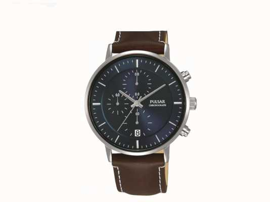 Pulsar Gents roestvrij staal chrono horloge PM3079X1