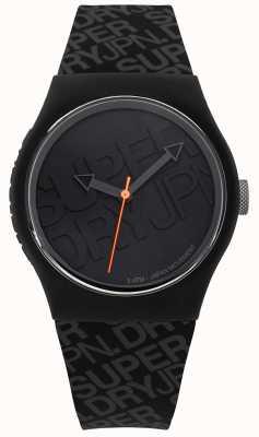 Superdry Unisex Urban Black Silicone SYG169B