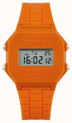 Superdry Heren retro Digi oranje siliconen SYG201O
