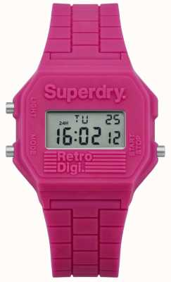 Superdry Womans retro digi roze siliconen SYL201P