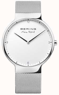 Bering Heren max rené uitwisselbare maasband zilver 15540-004