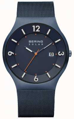 Bering Mens zonne-blauwe milanese mesh band 14440-393