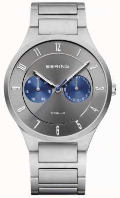 Bering Mens titanium grijze chronograaf horloge 11539-777