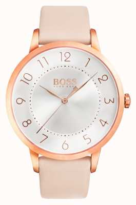 Hugo Boss Womens eclipse roze lederen horloge 1502407