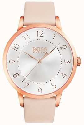 BOSS Womens eclipse roze lederen horloge 1502407